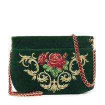 Velvet bag 'Dolce Rose'