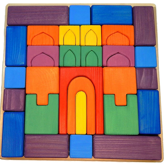 The Tower Designer is a colorful developing toy (handmade)