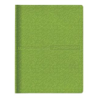 Diary 1-11 class, skins (hard), embossment, ness, 48 sheets, ALT, VELVET FASHION Green