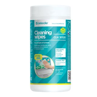 DEFENDER / Cleaning wipes CLN30320 for all types of monitors in a tube, 100 pcs.