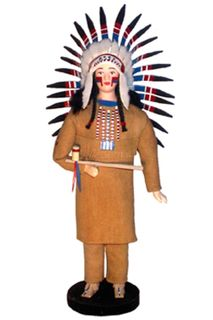 Doll gift. Indians. Leader. SEV. America.The national costume.