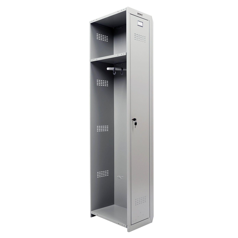 "Wardrobe (wallless section) metallic for BRABIX clothing ""LK 01-30"", 1830x30x500 mm"