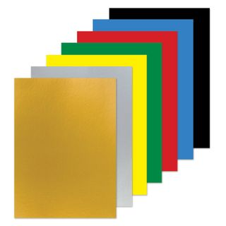 Cardboard A4 colored COATED (glossy) MAGIC, 7 sheets, 7 colors, in the folder of ONLANDIA, 200х290 mm,
