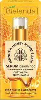 Nourishing and moisturizing serum for dry and sensitive skin , MANUKA HONEY, BIELENDA, 15 ml