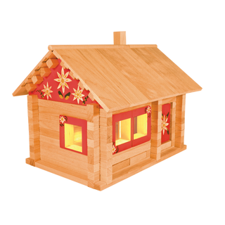 Designer Hut three bears with painting and wiring, 151 element, Pelsi