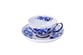 Dulevo porcelain / Tea cup and saucer set, 12 pcs., 275 ml White Swan Rose Gold - view 1