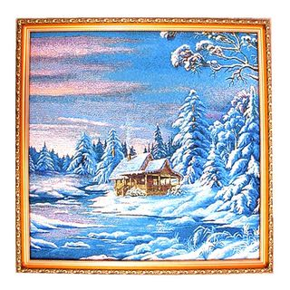 Tapestry picture Winter evening