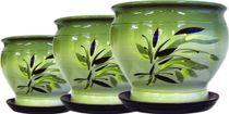 Ceramic pot 'Plantain' 10 l