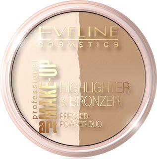 Bronzing-powder rassvetnaya - glam light No. 56 the art professional make-up, Eveline