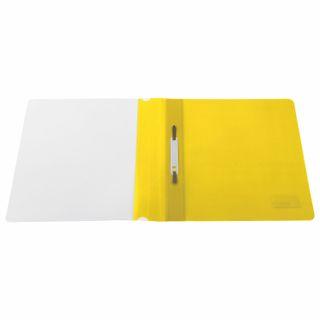 BRAUBERG plastic folder, A4, 130/180 µm, yellow