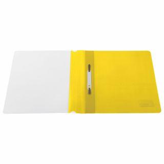 BRAUBERG plastic folder, A4, 130/180 µm, yellow
