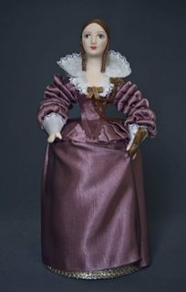 Doll gift. Women's court dress. The first half of the 18th century. France.
