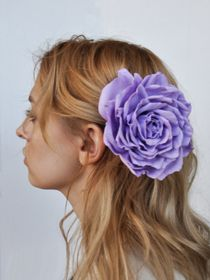 Brooch hairpin Rose light purple