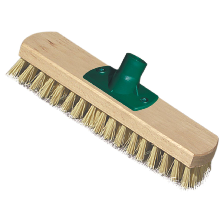 YORK / Brush for cleaning schrober (scrubber) width 23 cm, bristles 2.5 cm, wooden, euro-thread mount