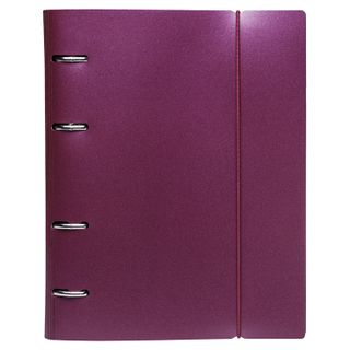Notebook on A5 rings (175x220 mm), 120 sheets, plastic cover, cage with fixing gum, HATBER