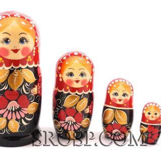 Rossijanochka - booklet doll, 5 dolls - Zhostovo large size