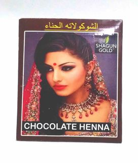 Hair dye based on Indian henna (chocolate)