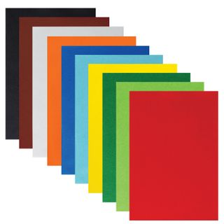 Colored felt for creativity A4 INLANDIA 10 BRIGHT COLORS, thickness 1 mm, with Euro slot
