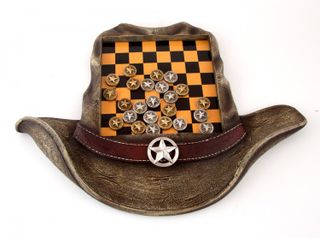 "Board game ""Checkers - Wild West"" 40x29x3 cm."