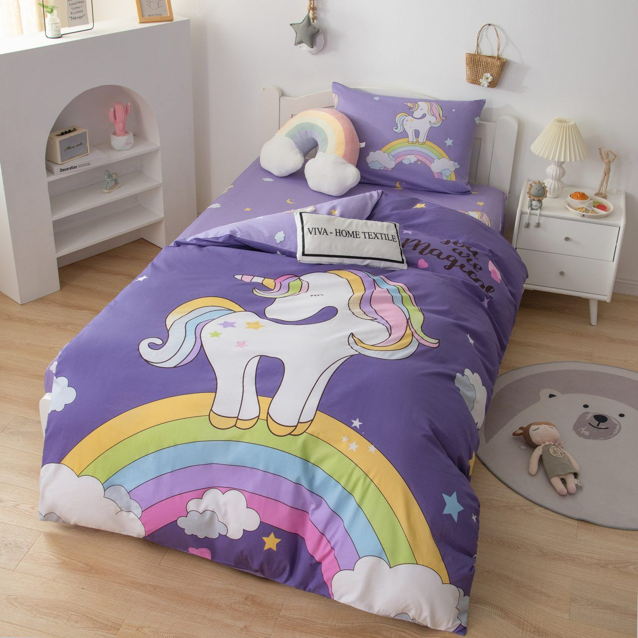 Sitrade / Sateen bedding set for children CD028, 1.5 sleeping pillowcase 50-70
