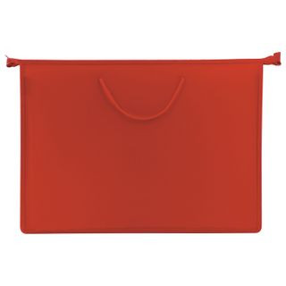 Folder of paintings and drawings on the A3 handles-drawstring, plastic, zipper top, PYTHAGORAS, red