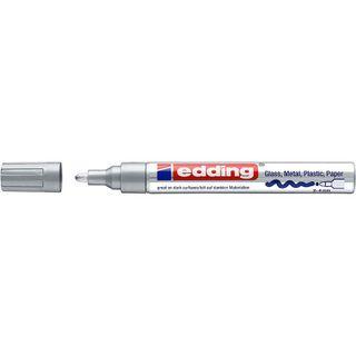 Edding / Marker varnish glossy, round nib, 2-4 mm Silver