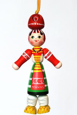 Doll gift Girl Russian costume of Kaluga province