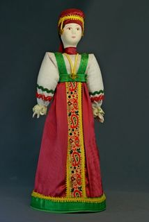 Doll gift porcelain. Russia. Woman in birthday suit.