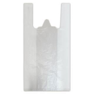 T-shirt bags, SET 100 pcs., 38 + 18x68 cm, HDPE, 18 microns