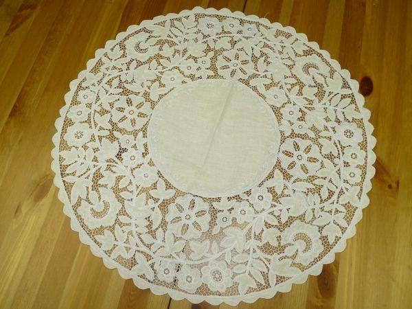 A napkin tracery patterns Karelian diameter 60 cm