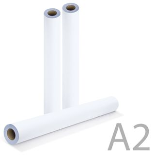 Roll for plotter, 420 mm x 175 m x bushing 76 mm, 80 g/m2 CIE whiteness 162%, diameter 170 mm, BRAUBERG
