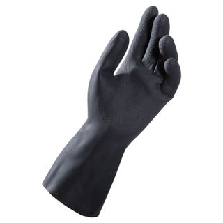 MAPA / Latex gloves Alto Plus 260, cotton dusting, size 8 (M), black