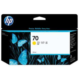 HP (C9454A) DesignJet Z2100 / Z5200 / Z5400 Inkjet Cartridge, # 70, Yellow, Original