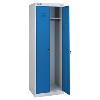 Metal cabinet for clothes ShRK-22-600, two-section, 1850x600x500 mm, 30 kg, collapsible