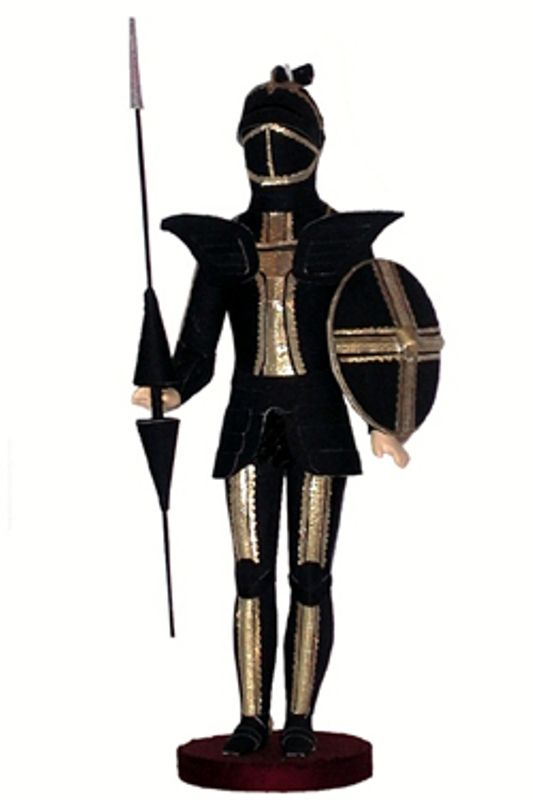 Doll gift. Knight. Military costume of the middle ages. Zap. Europe.
