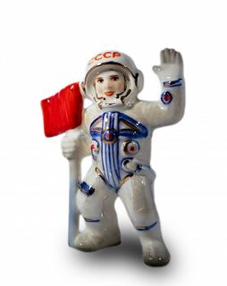 "Christmas tree toy ""Astronaut with flag"""