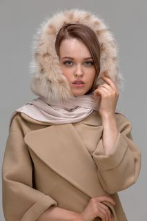 Hood telemachou mink color pearls a lynx