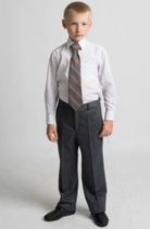 """Pants for the boy from the collection """"School waltz"""" on the corsage, half-visor"""