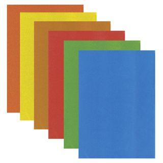 Cardboard A4 colored VELVET, 7 sheets 7 colors, 180 g/m2, TREASURE ISLAND