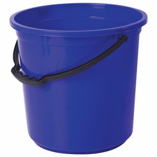LIME / Bucket 12 l, without lid, plastic, food grade, with a pattern, blue color, measuring scale