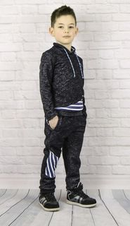Sports suit knitted for the boy black