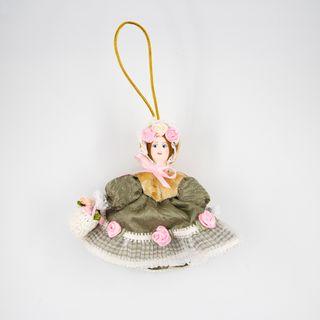 Christmas toy porcelain handmade Flower, 11 cm