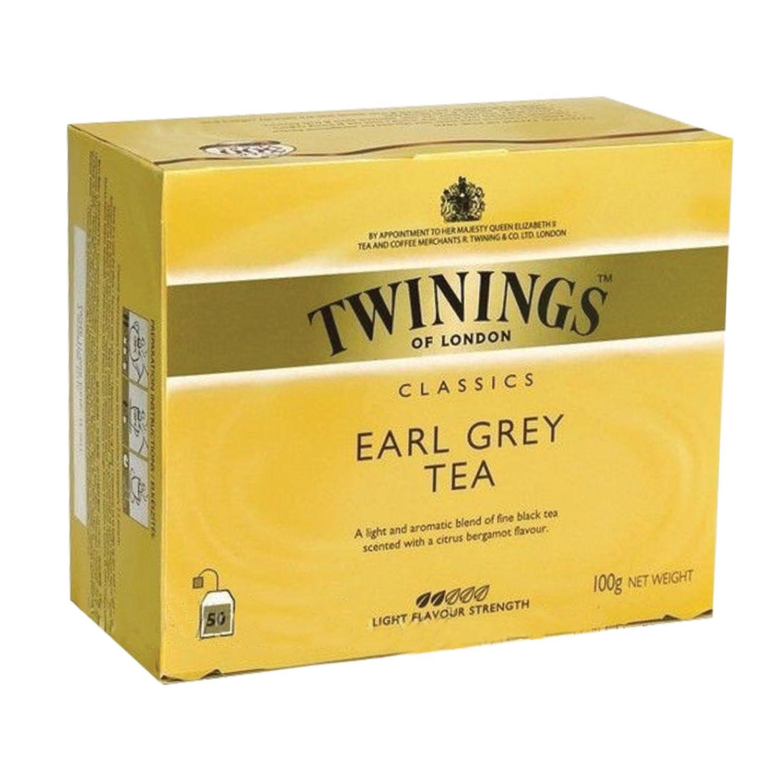 """TWININGS / Tea """"Earl Gray"""" black, 50 sachets"""