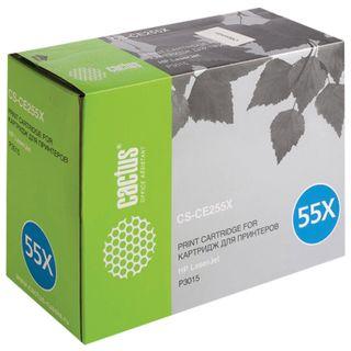 Toner cartridge CACTUS (CS-CE255X) for HP LaserJet P3015d / P3015dn / P3015x, yield 12,500 pages.