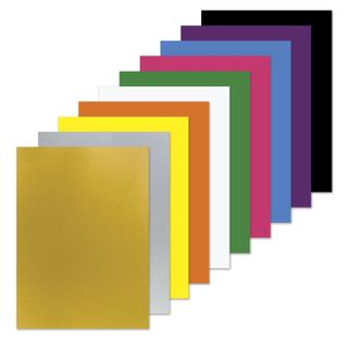 Cardboard A4 colored uncoated (matte), MAGIC, 10 sheets, 10 colors, in a folder, PYTHAGORAS, 200х290 mm,