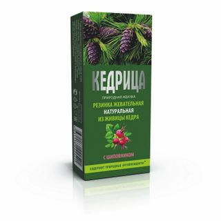 "Natural chewing gum ""Smoka cedar"" Kedritsa with wild rose """