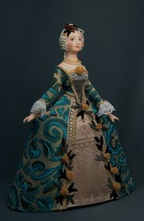 Morning dress mid-18th century. Paris. France. Doll gift