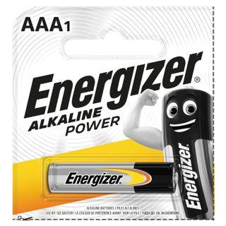 ENERGIZER / Battery Alkaline Power AAA (LR03, 24A) alkaline little finger, 1 pc. in a blister (tear-off block)