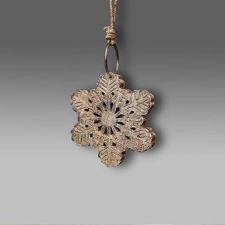 Decor wooden snowflake