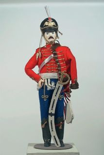 Doll gift porcelain. Hussars. The uniform of the life guards hussar regiment.1812 Russia.